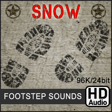 Soldier Footsteps Crouch Walk Run On Snow, With Weapon and Ammo Packs Rattle